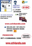 KIT VIDEOVIGILANCIA IP WIFI EXTERIOR HD