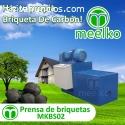 la maquina de prensa de briquetas MKBS02
