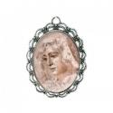 Medallas de virgenes y santos en esmalt