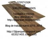 montador de suelos maderas laminados