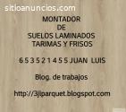 MONTADORES DE SUELOS LAMINADOS TARIMAS