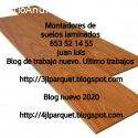 montaje de suelos de maderas laminados