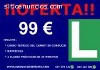 Oferta Carnet conducir del coche B 99€