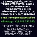 OFERTA DE CRÉDITO RÁPIDO