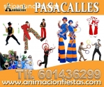 Pasacalles, artistas circenses,Madrid