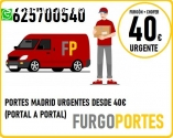 Portes Aravaca: 40€→625:700540(Tu Mudanz
