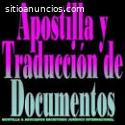 Traducción y Apostilla de documento Vzla
