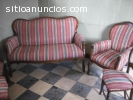 Tresillo antiguo estilo Isabelino
