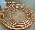 Tubo de cobre flexible de ¼