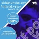 VideoLyrics. Descuento 50% confinamiento