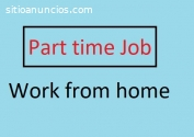 Work from home part time job vacancy