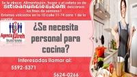 Agencia Jireh Necesita personal para coc