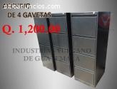 Archivo Metalico de 4 gavetas Q.1,200.00