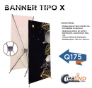Banner tipo x (60cm x 160cm)