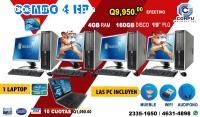 COMBOS 4+1 COMPUTADORAS HP+ 01 LAPTOP DE