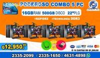 COMPLETOS DE 05 COMPUTADORAS HP, CON 16G