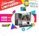 Computadora HP CORE2DUO Con 4GB RAM DDR3