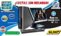 COMPUTADORA HP INTEL CORE I5 CON 4GB RAM