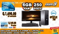 COMPUTADORAS DELL CORE2DUO/06GB RAM/250H