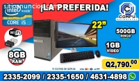 COMPUTADORAS DELL COREi5, 8GB RAM, 500HD