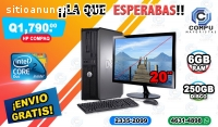 COMPUTADORAS HP COMPLETAS CON MONITOR DE