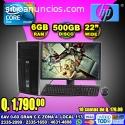 COMPUTADORAS HP CON MONITOR DE 22 PULGAD