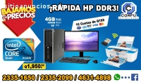 COMPUTADORAS HP + IMPRESORA HP CON WIFI,