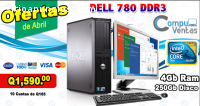 DELL 780 DDR3 CON 4GB RAM 250GB HDD