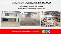 Excelentes bodegas en alquiler en Mixco.