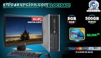 HP CORE2 QUAD 8GB RAM Y 500GB HDD