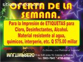 IMPRESION de Etiquetas para Alcohol .