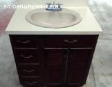 Lavamanos con mueble de madera