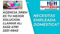 ¿Necesitas empleada domestica?