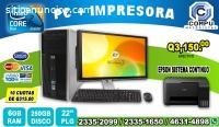 OFERTAS ÚNICAS,COMPUTADORAS HP +IMPRESOR