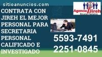 AGENCIA DE SECRETARIAS INVESTIGADAS