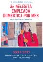 Se necesita empleada domestica