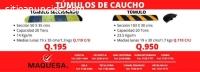 TUMULOS DE CAUCHO