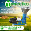 Maquina Meelko para pellets con madera -