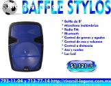 """BAFFLE STYLOS DE 8"""""""