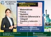 Cursos de matemáticas, fisica, quimica,