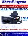 MANTENIMIENTO A IMPRESORAS DE TINTA CONT