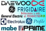 refacciones electrolux y frigidaire