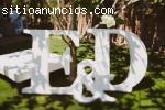 Letras gigantes 3D para bodas