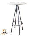 Mesa periquera sillas de metal mobydec