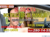 SE SOLICITA INSTRUCTOR DE MANEJO EN CLN.