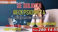 SE SOLICITA RECEPCIONISTA ESCUELA
