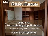Venta Casa Lomas de Angelopolis Puebla