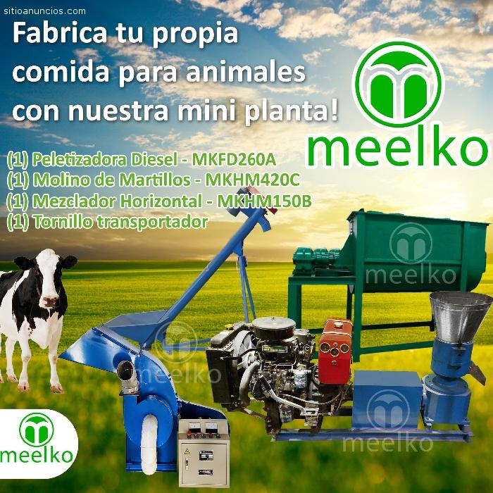 Extrusora Meelko para pellets