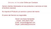 Servicios de Vendedor Online por Comisio