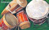 Grupo de tamborito panameño. Ciudad de P